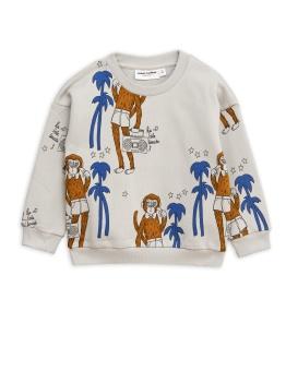 Cool monkey aop sweatshirt -/ Grey