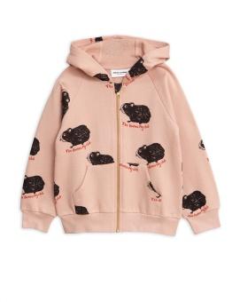 Guinea pig zip hoodie pink