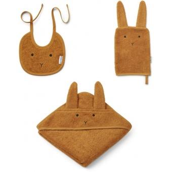 Presentförpackning Frotté Baby Set Kanin Mustard