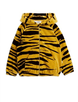 Tiger velour zip hood
