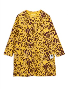 Leopard ls dress, Yellow