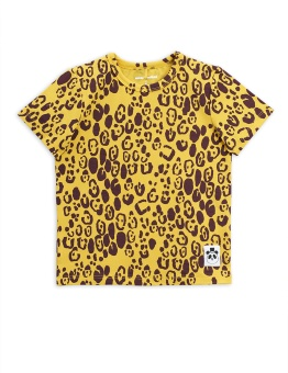 Leopard ss tee, Yellow