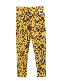 Leopard leggings, Yellow