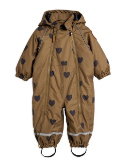 Alaska hearts baby overall