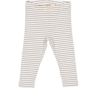 Leg modal fine rib pants blue stripe