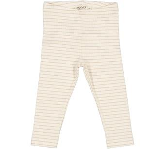 Leg modal fine rib pants Hay stripe