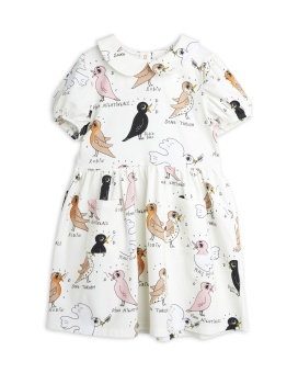 Birdswatching aop puff sleeve dress Offwhite - Chapter 2