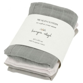 3 PACK MUSLIN LIME STONE