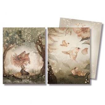 Mrs Mighetto 2-pack Kort / Miniprint A6 - Woods & Birds