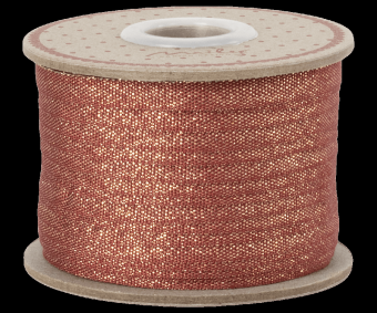 Ribbon, 25 m - Red/Gold