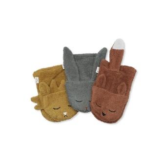 3 Pack wash cloths animals Boy