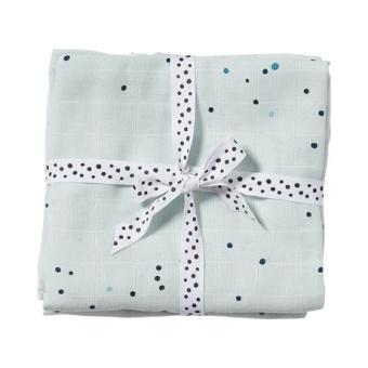 Burp cloth, 2-pack, Dreamy dots, blue