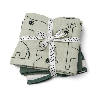Burp Cloth 3 pack Green