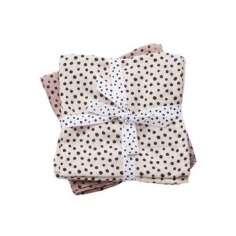 Burp cloth, 2-pack, Happy dots, powder