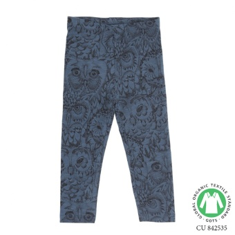 Paula Baby Leggings Orion Blue, AOP Owl