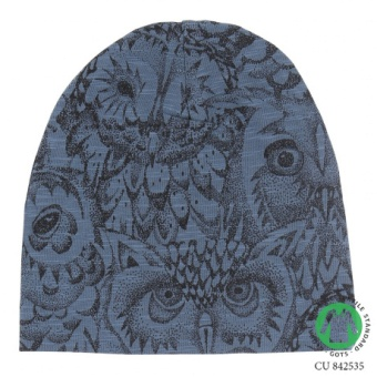 Beanie 1y-3y - Orion blue AOP Owl