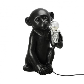 Banana Monkey Lampa 21x34 cm, Svart