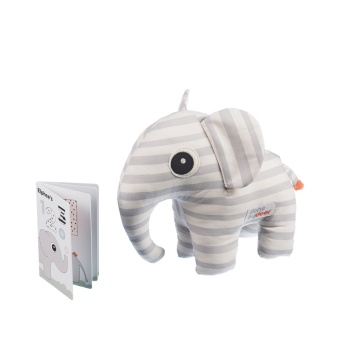 Soft toy Elphee + booklet, grey