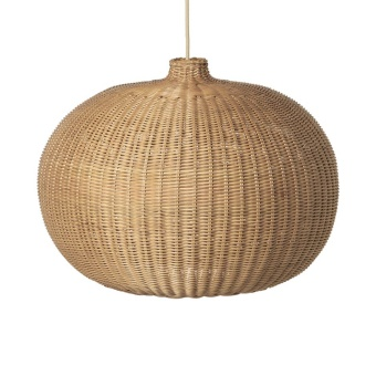 Braided Lampshade Belly, Natural