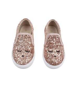 Sam Slide Shoe Bronze Glitter