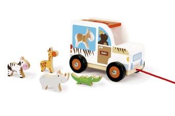 Dragbil med djur