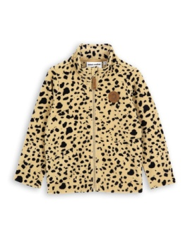 Fleece spot jacket Beige