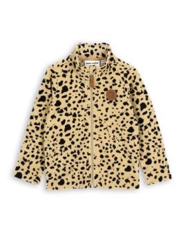 Fleece spot jacket Beige