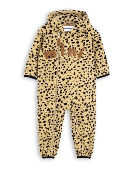Fleece spot onesie Beige