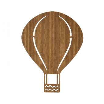 Air Balloon Lamp - Smoked Oak