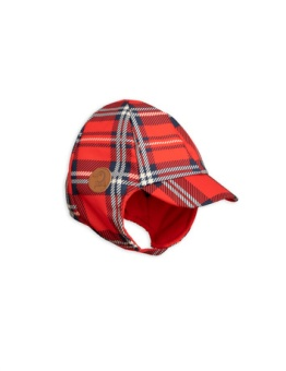 Alaska Check Cap Red