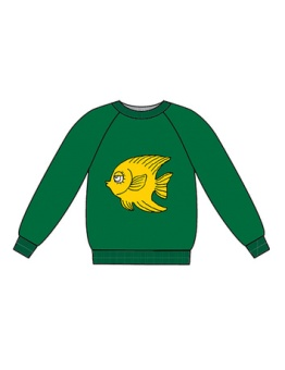 Fish terry sweatshirt Green