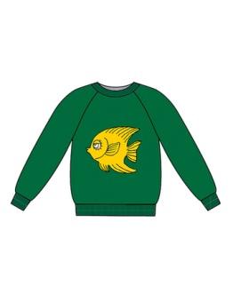 Fish terry sweatshirt Green