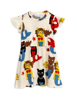 Cat mermaid dress Offwhite