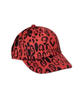 Leopard cap red