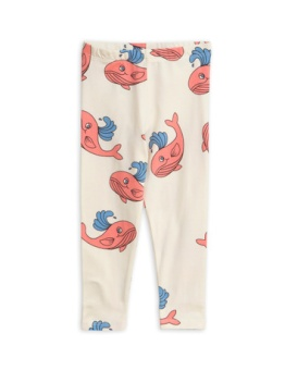 Whale aop leggings/ Pink