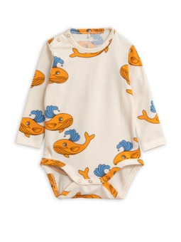 Whale aop ls body/ Orange