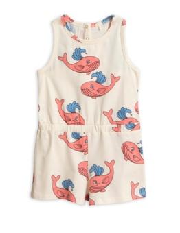 Whale aop summersuit / Pink