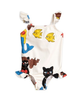 Cat mermaid Wing swimsuit/ Offwhite