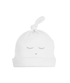Sleeping Cutie tossie hat white/grey