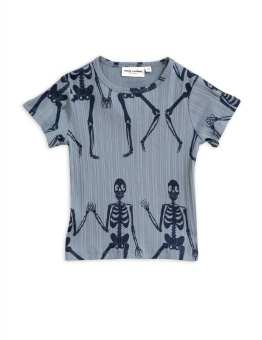 Skeleton aop ss tee blue