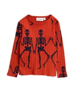Skeleton aop ls tee red
