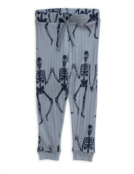 Skeleton aop trousers blue