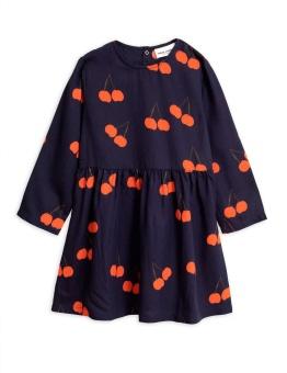 Cherry woven ls dress blue