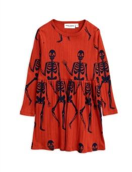 Skeleton aop ls dress red