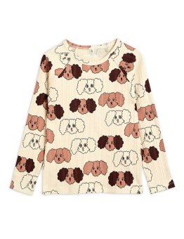 Fluffy Dog Aop LS Tee