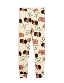 Fluffy Dog AOP Leggings