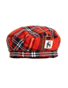 Fleece check beret