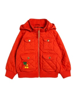 Cherry embroidery hooded jacket Red Chapter 1