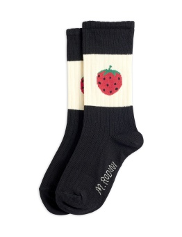 Strawberry ribbed socks Black  - Chapter 1