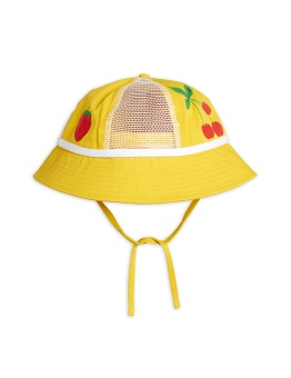 MINI RODINI Mesh sun hat Yellow - Chapter 1